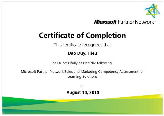 MicrosoftPartnerCeriticate